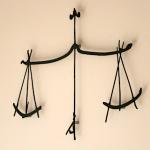 La balance, symbole de la Justice dans les salles d'audiences du tribunal
